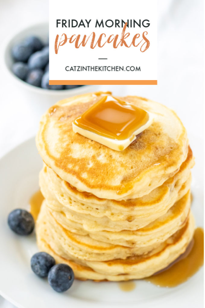 Gracie whips up these pancakes nearly every Friday morning - they're easy, quick, fluffy, and delectable. They're
