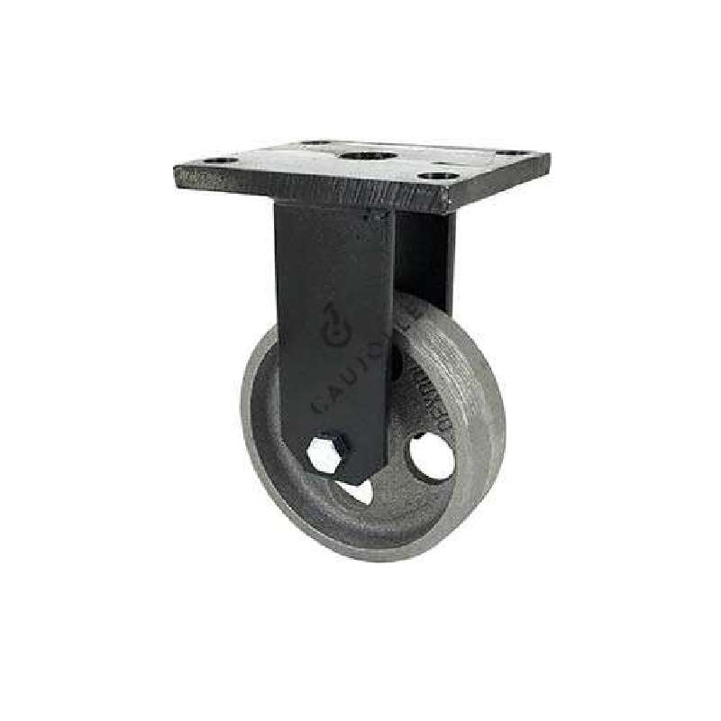 roulette vintage en fonte fixe diametre 100mm charge 250kg industyl100f