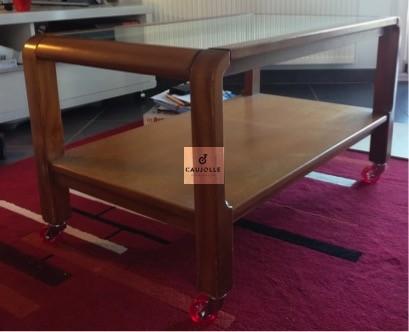 une jolie table basse sur roulettes