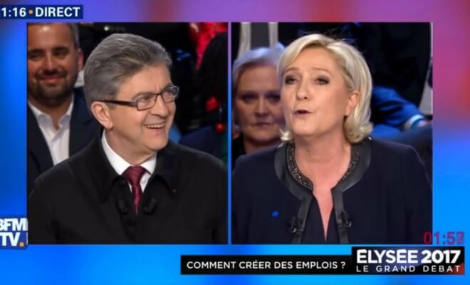 marine lepen melenchon second tour