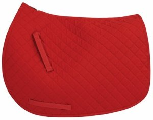 TUFFRIDER Basic All Purpose Saddle Pad – Red