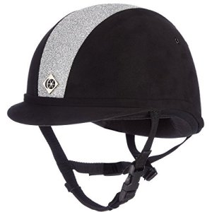Charles Owen Sparkly YR8 Riding Hat 58cm Black and Silver
