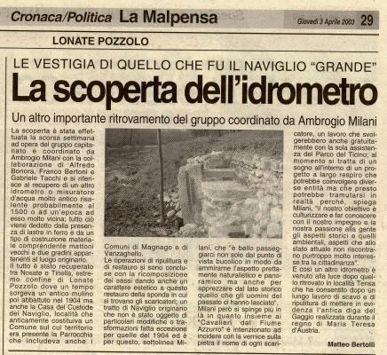 Città Oggi 03-04-2003