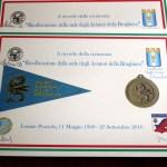 Il diploma commemorativo
