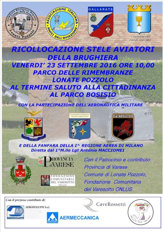 Manifesto giornata di Ricollocamento cippo aviatori