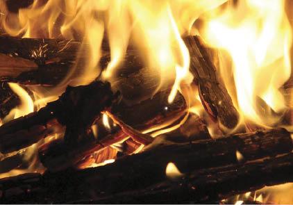 Foto - Fiamme che ardono nel camino