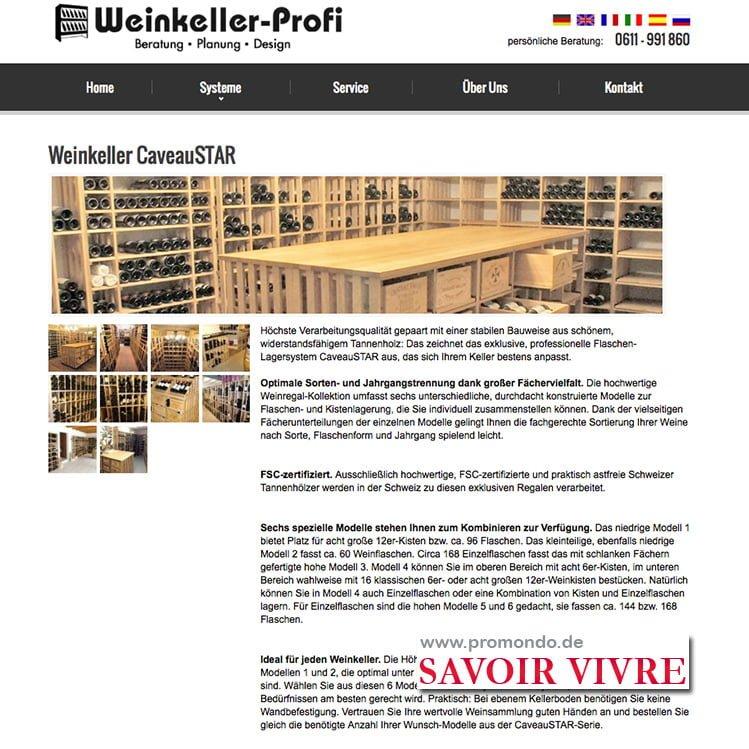 CaveauStar bei Promondo/weinkeller-profi.de