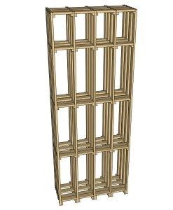 CaveauStar Weinregal CS-Basic-02 - 3D Ansicht