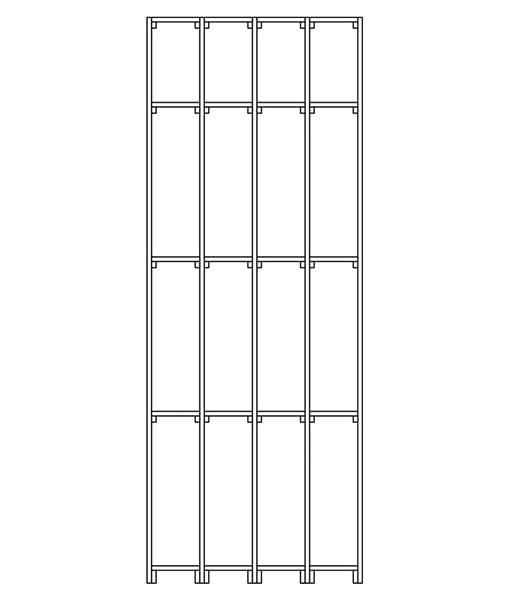 CaveauStar Weinregal CS-Basic-02 - Technische Skizze