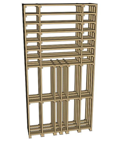 CaveauStar Weinregal CS-Basic-12 - 3D-Ansicht