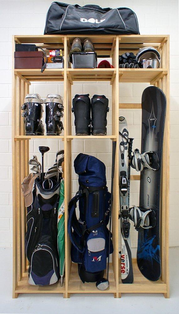 CaveauStar Lagerregal für Golf und Ski/Snowboard
