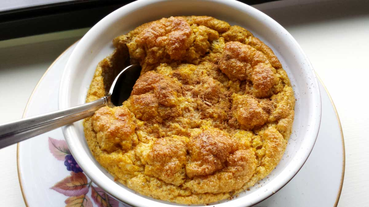 June is a good time for pumpkin.  It's always a good time for Pumpkin,…Savory Spiced-Pumpkin Soufflés
