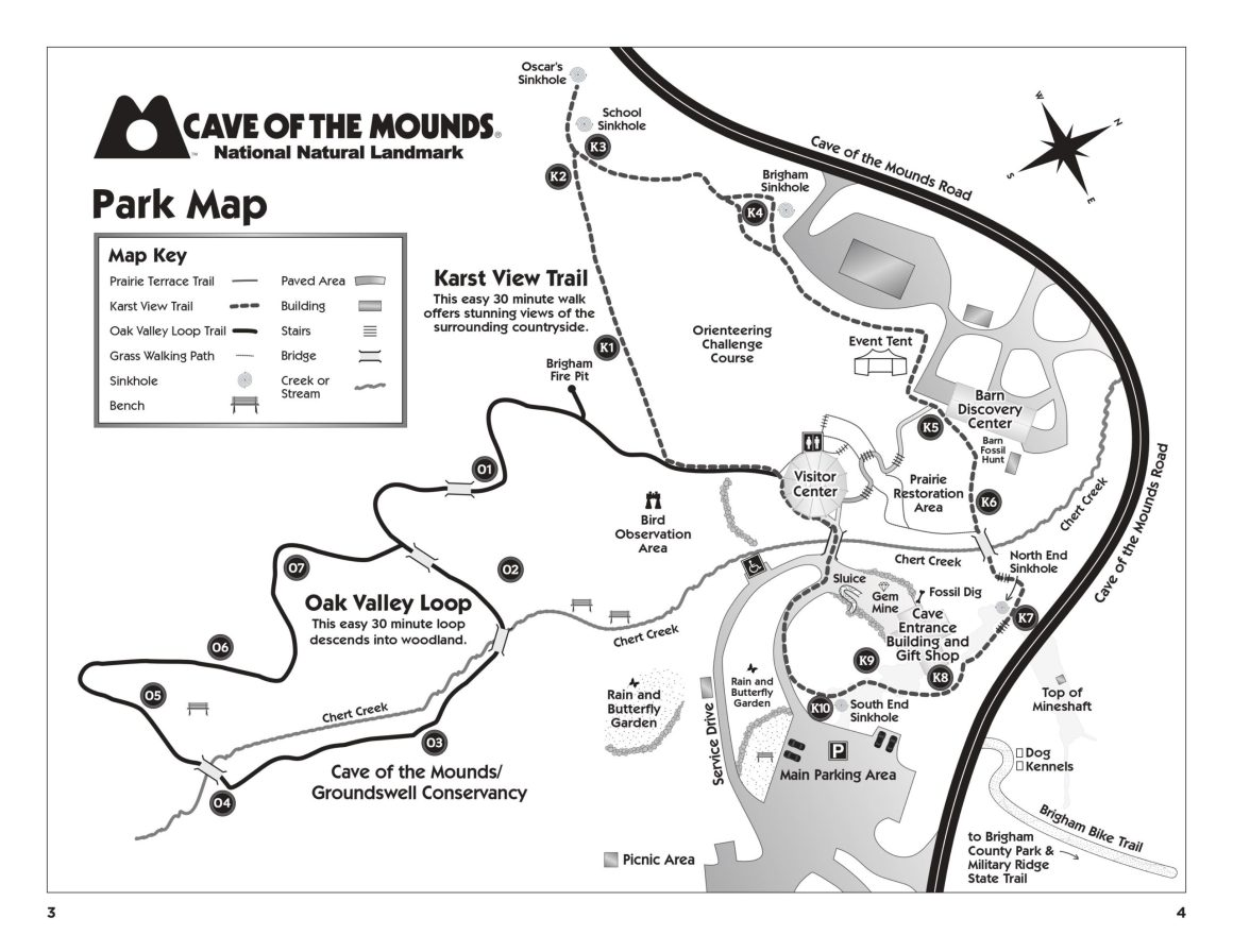 Cave of the Mounds Park Map