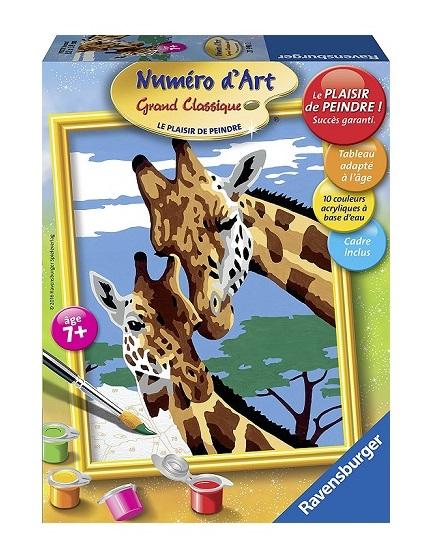 Peinture Numro Dart Belles Girafes Ravensburger 7 Ans
