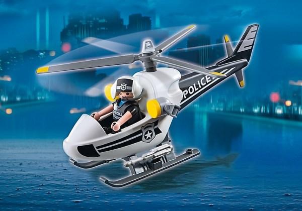 Hélicoptère monoplace de police Playmobil 5916 Nouveauté