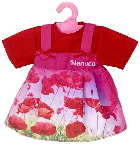 Nenuco T16820 Habit Poupe De 42 Cm Robe Rouge Avec Fleurs