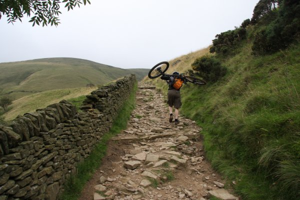 mountain biking jacobs ladder peak district
