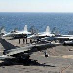 IMAGENS: Caças Rafale participam de exercício a bordo do porta-aviões Truman da U.S. Navy