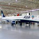 IMAGENS: Azul recebe o 100° E-Jet da América Latina e Caribe
