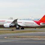 Boeing 787 Dreamliner nas cores da Air India será apresentado na Índia