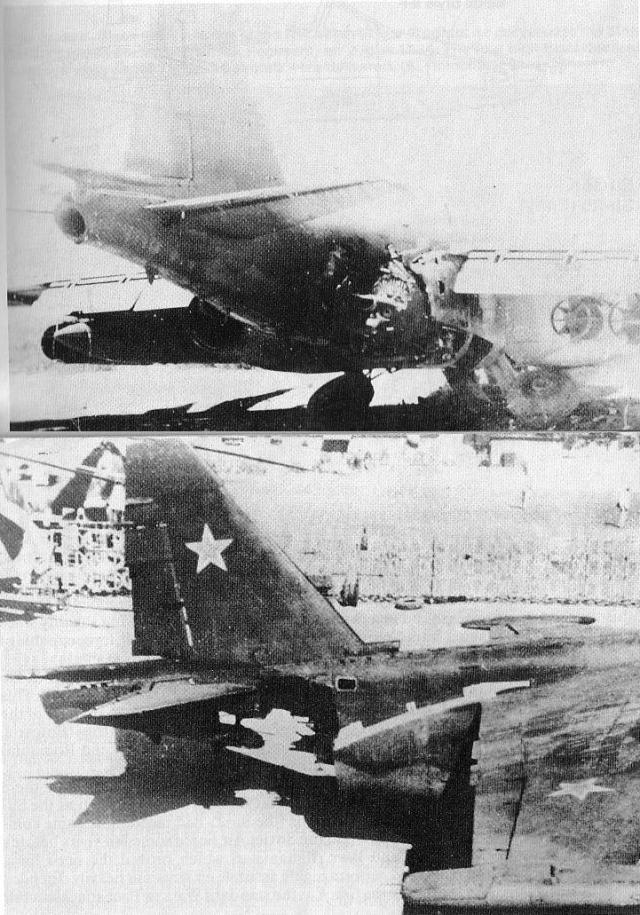 Um Su-25 exibe suas cicatrizes de guerra causadas pelos perigosíssimos manpads. (Foto: Coleção particular)