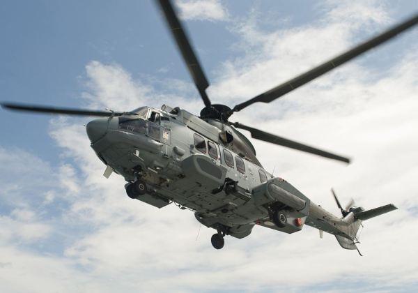 Um helicóptero EC725 fabricado pela Eurocopter.