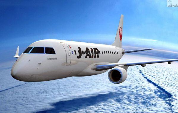 Concepção artística de um Embraer 170 nas cores da J-Air. (Foto: Embraer)