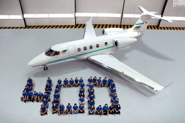O 400° Phenom 300, entregue para o The Hansgrohe Group. (Foto: Embraer)