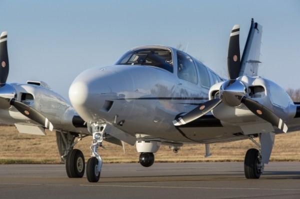 O bimotor G58 Baron que a Beechcraft adaptou para ser usado como plataforma ISR. (Foto: Beechcraft)
