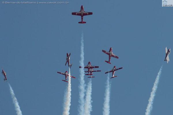 A principal atração do Abbotsford Airhsow 2013, os Snowbirds. (Foto: Bernanrdo Malfitano / Cavok)