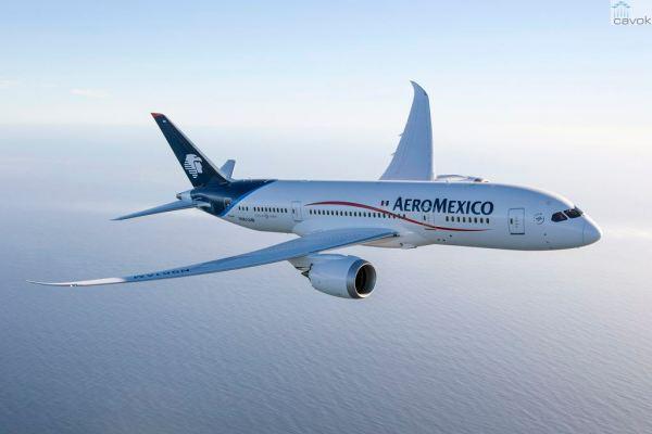 O primeiro Boeing 787 Dreamliner da Aeromexico. (Foto: Boeing)