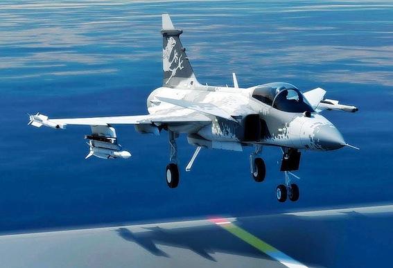 A versão Sea Gripen sendo desenvolvida pela Saab.