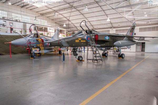Detalhes do jato SEPECAT Jaguar que pertencia a RAF. (Fotos: Mauro Lins de Barros e Flávio Lins de Barros / Cavok)