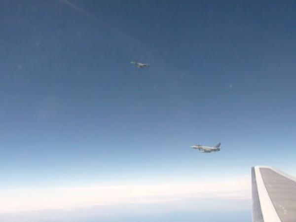Encontro aeronave comercial Falklands 02