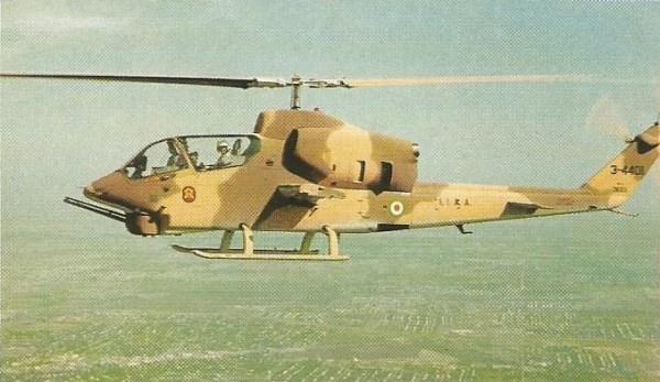 Grandes quantidades de helicópteros Beil AH-1J SeaCobra foram fornecidas ao Irã ainda nos tempos do xá. O governo dos aiatolás utilizou os SeaCobra contra as forças terrestres do Iraque, em preparação a ofensivas.