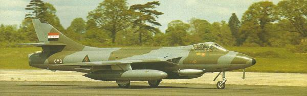 De fabricação britânica, o Hawker Hunter servia a Força Aérea Iraquiana como avião de ataque ao solo. A seu lado, lutaram aparelhos de origem soviética: MiG-19, MIG-21, MiG-23 e Su-22.