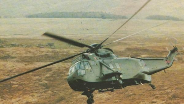 O Sea King I-IC.Mk 4 que aparece na foto é um gêmeo do exemplar ZA290, destruído por sua própria tripulação depois de pousar em uma praia deserta do Chile no fim do dia 18 de maio de 1982.