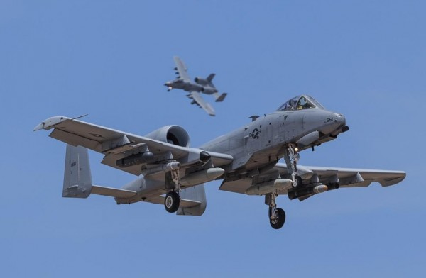 Fairchild Republic A-10C Thunderbolt II of the 163d Fighter Squadron Blacksnakes of the Indiana Air National Guard from Fort Wayne ANG Station