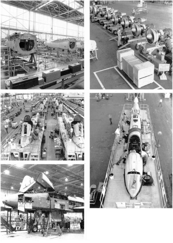 Linha de montagem do A-10, arquivos da Fairchild Republic, Cradle of Aviation Museum (NY)