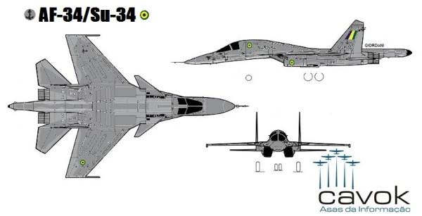 AF-34/Su-34 (Concepção artística: Giordani)