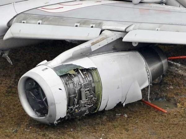 Turbina Aeronave acidentada - Airbus A320-232, prefixo HL7762, Foto Kyodo, Reuters