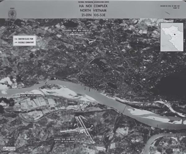 Imagem obtida através do sobrevoo de Jack Weeks (BX6706), em 30 de junho de 1967 - CIA
