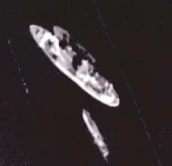 USS Pueblo, imagem captada durante a missão BX6847 - National Archive via Tim Brown