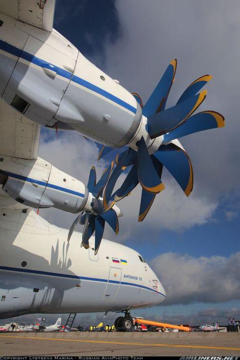 O Antonov An-70, produzido em 1994, também foi dotado deste sistema.