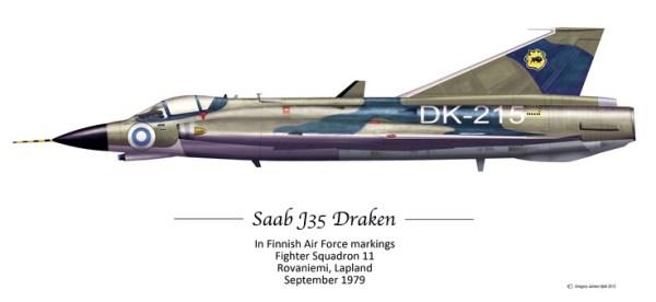 J-35 draken Finnish Air Force
