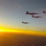 VÍDEO/IMAGENS: A caça no céu do Brasil