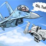 Aeronaves de combate dos EUA e Rússia treinam, conjuntamente, protocolo de segurança nos céus da Síria