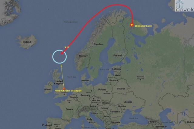 Typhoons britânicos interceptam bombardeiros estratégicos Tu-160 russos próximo à costa do Reino Unido (17.02)