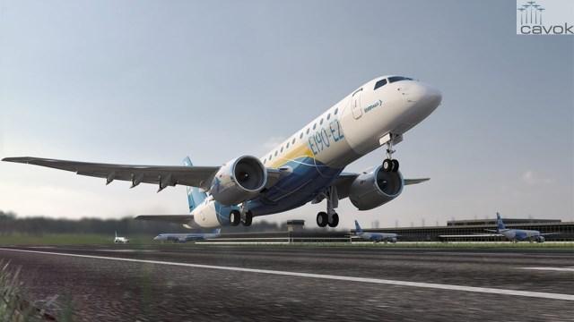 decolagem-aeronave-e190-e2-embraer-1280x905