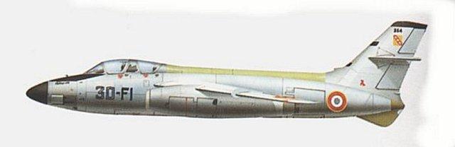 Conhecido por sua empenagem de cauda em peça única, o bombardeiro Vautour II.18 tinha assento para o navegador/bombardeador no nariz envidraçado e cabina semelhante à dos aviões de caça.